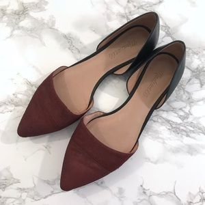 Madewell The D'orsay Flat Calf Hair Shoes